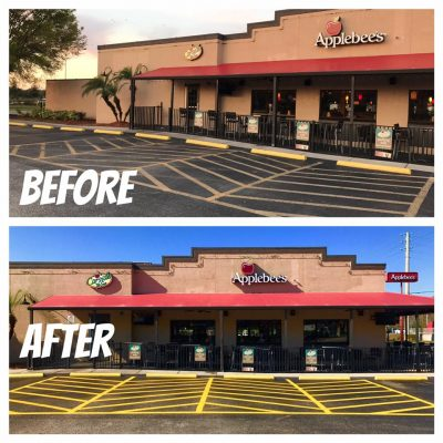 Applebee S Parking Lot Striping Certified Services A